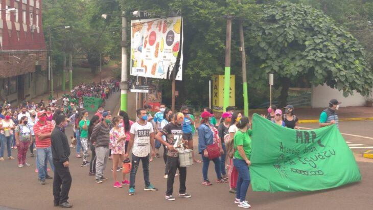 Marchas y protestas del Movimiento de Resistencia Popular colmaron las calles de Iguazú