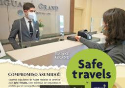 El Iguazú Grand Hotel recibió el certificado Safe Travels, otorgado por el Consejo Mundial de Viajes y Turismo