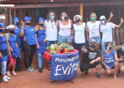 Funcionarias nacionales recorrieron unidades productivas del Frente Nacional por la Igualdad del Evita