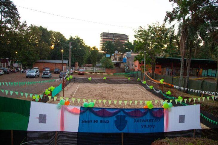 Inauguración: el «beach voley» ya tiene su espacio propio en la ciudad