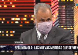Rial afirmó en su programa «TV Nostra» que a partir del viernes el gobierno dispondrá un «cierre total»